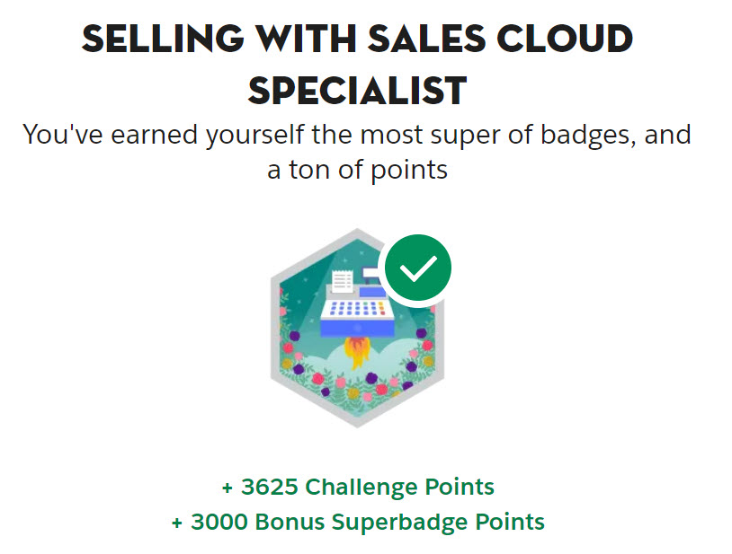 Selling with Sales Cloud Specialist